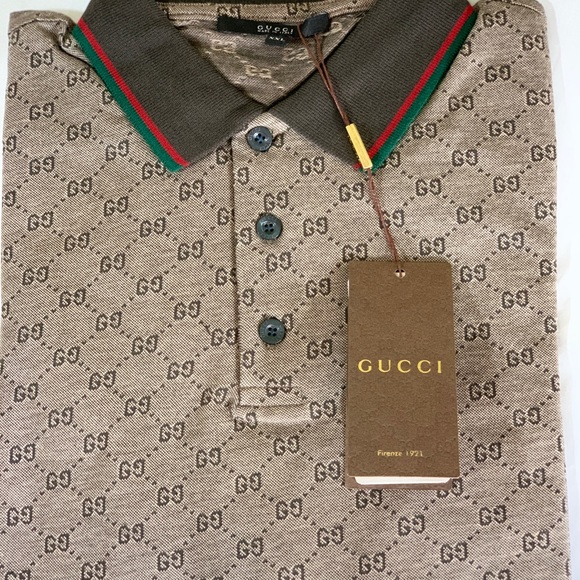 e65229dab 💯Gucci Men s Polo GG Print Shirt size XXL. NWT